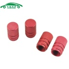 CARKING Automobile Tire Tread Valve Core Caps for Car Accessories - Red (4 PCS)