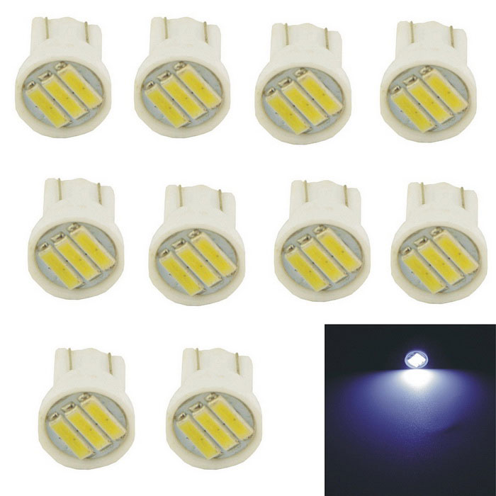 Carking T10 0.7W 50lm 6000K 3-7014 SMD White Car Lamp (10PCS)