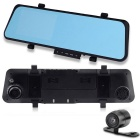 "Dual Camera Car Rear View Full HD 1080P 4.3"" 170 Degree Night Vision Car DVR Mirror"