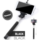 Selfie Retractable Monopod w/ 3.5mm Plug + Mount Holder for IPHONE / Android Phone - Black