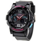Genuine Casio Ladies Baby-G G-Lide 3D Dial Surf Watch 100-meter Water Resistance Case - Black