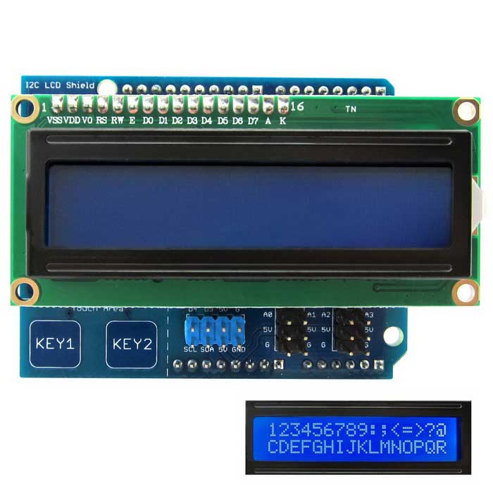 I c lcd display module w touch keys for arduino uno