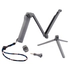 PANNOVO 3-in-1 Folding Arm Monopod Grip for GoPro Hero, SJ4000 - Grey