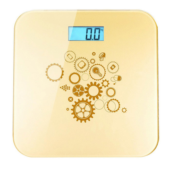 "Prointxp VM168 BT 1.2"" Digital Bathroom Scale for Phones - Golden"