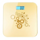 "Prointxp VM168 Bluetooth 1.2"" Digital Bathroom Scale for Smartphones - Golden (2 x AAA)"