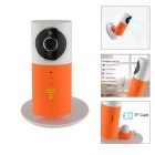 "IN-Color 1/1.6"" CMOS 720P Wireless Smart IP Camera w/ 4-IR-LED / USB / TF / Wi-Fi - White + Orange"
