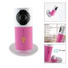 "IN-Color 1/1.6"" CMOS 720P HD Wireless Smart IP Camera w/ 4-IR-LED / USB / TF / Wi-Fi - White + Pink"