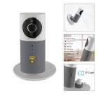 "IN-Color 1/1.6"" CMOS 720P HD Wireless Smart IP Camera w/ 4-IR-LED / USB / TF / Wi-Fi - White + Grey"