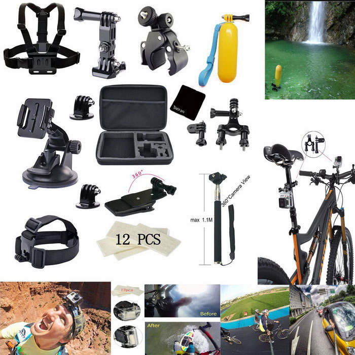 25 in 1 bike car mount accessories kit for gopro hero black free shipping dealextreme. Black Bedroom Furniture Sets. Home Design Ideas