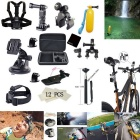 25-In-1 Bike / Car Mount Accessories Kit for GoPro Hero 4 / 3+ / 3 / 2 / 1 - Black