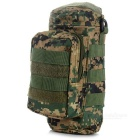 Outdoor Sports Mountaineering Portable Canvas Nylon Water Bottle Holder Waist Bag - Camouflage Green