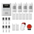 "2.1"" Quad-Band GSM Anti-Theft Home Security Alarm System - White + Black (8 x 23A / Russian Version)"
