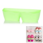 Stylish PP Wall Mount Shoe Organizing Storage Holder - Green
