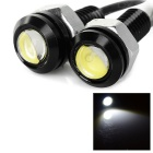 18mm 2W 100lm 8500K White Light Car Eagle Eye Lamp (2 PCS / DC 12V)