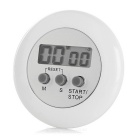 "1.3"" Screen Mini Digital Kitchen Timer - White"