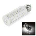 E27 6.6W LED Corn Bulb White Light 6450K 700lm 66-SMD 3014 - White + Silver (AC 220~240V)