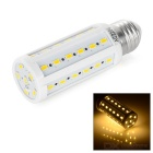 E27 7W LED Corn Lamp Warm White 3000K 750lm SMD 5730 - White + Silver (AC 220V)
