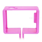 Sports Camera Portable Protective Plastic Fixed Frame Case for SJ4000 / SJCAM - Deep Pink