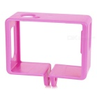 Sports Camera Plastic Fixed Frame Case for SJ4000 / SJCAM - Dark Pink