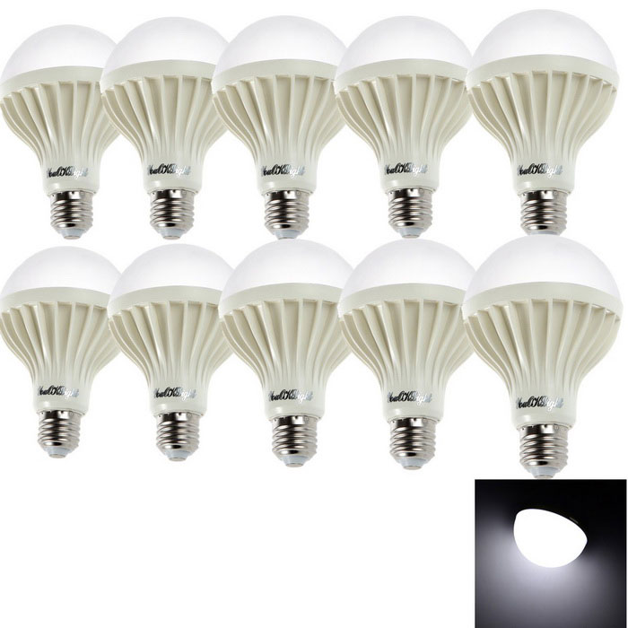 YouOKLight E27 12W LED Globe Bulb Cold White Light 1180 lm(10PCS)