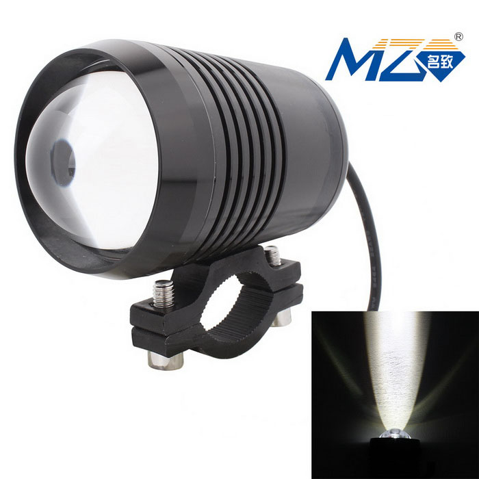 MZ 10W LED Motorcycle Headlamp White Light 3-Mode 900lm 6500K - BlackMotorcycle Lighting<br>Form ColorBlackColor BINWhiteModelN/AQuantity1 DX.PCM.Model.AttributeModel.UnitMaterialAluminumMakeUniversalCompatible Car ModelUniversalEmitter TypeLEDTotal Emitters1Chip BrandOthers,N/APower10 DX.PCM.Model.AttributeModel.UnitRate Voltage12~24VColor Temperature6500 DX.PCM.Model.AttributeModel.UnitLife Span3000 DX.PCM.Model.AttributeModel.UnitTheoretical Lumens1000 DX.PCM.Model.AttributeModel.UnitActual Lumens900 DX.PCM.Model.AttributeModel.UnitConnector TypeOthers,WiredApplicationHeadlamp,Daytime running lightWater-proofIP67Waterproof GradeIP67Other FeaturesWire: 40cmPacking List1 x LED Light<br>