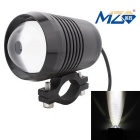 MZ 10W LED Motorcycle Headlamp White Light 3-Mode 900lm 6500K - Black (12~24V)