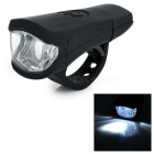 USB Charging 2-LED 2-Mode White Light Bicycle Headlight - Black