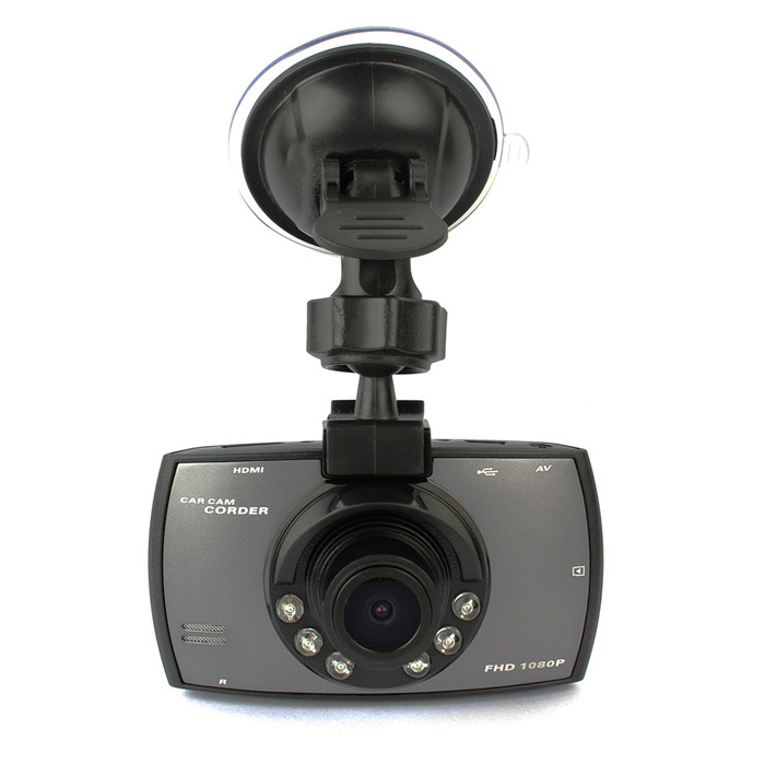"1080P 140 Degree Car DVR w/ 2.7"", G-sensor, IR Night Vision - Black"
