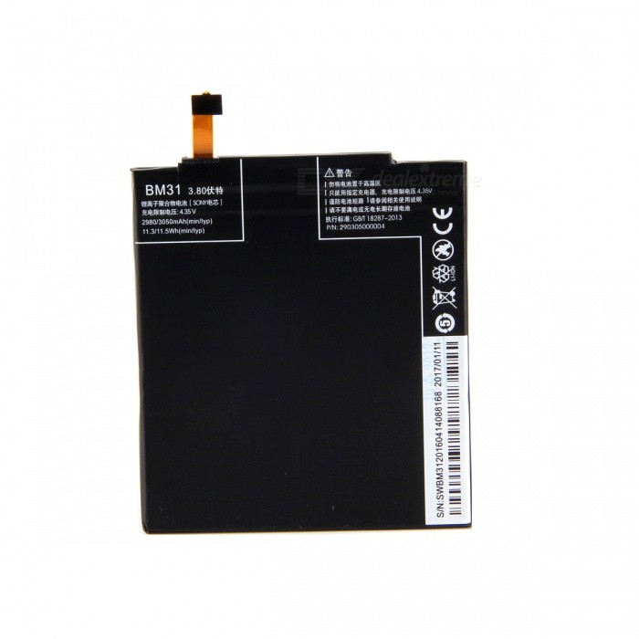 Xiaomi Replacement 3.8V 3050mAh Li-polymer Battery for Xiaomi Mi3 - Black