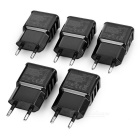 3-USB AC Power Adapters for Phone / Tablet - Black (EU Plug / 5PCS)