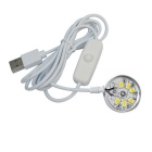 2.6W 55lm 3200K caliente blanco 6-SMD 5730 LED USB powered lámpara (dc 5V)