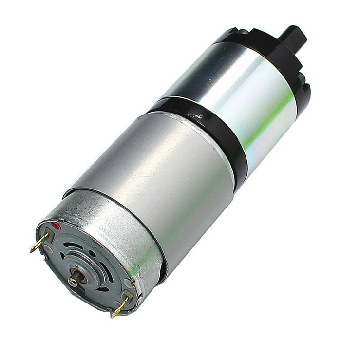 DC 12V 25RPM High Torque Mini DC Gear Motor - Black
