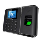 "2.4"" TFT Attendance Digital Fingerprint Time Clock Recorder - Black"