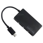USB 3.1 tipo-c a 4 puertos USB 3.0 HUB cable para macbook air 3.1 - negro