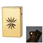 Creative Floral Pattern USB Powered Windproof Arc Pulse Lighter - Golden