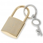 Golden Silver Stainless Steel Lock with Key Pendant