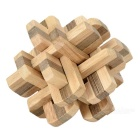 Chinese Traditional Wood Educational Kong Ming Lock Toy - Wood + Black