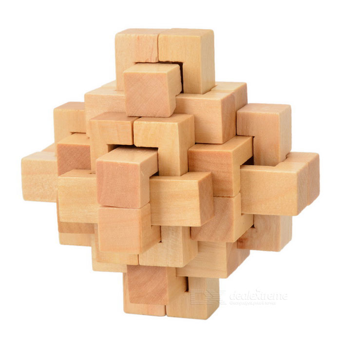 Wooden IQ Teaser Puzzle Magic Chinese Kong Ming Seal Lock Toy - WoodEducational Toys<br>Form ColorWoodMaterialWoodQuantity1 DX.PCM.Model.AttributeModel.UnitSuitable Age 3-4 years,5-7 years,8-11 years,12-15 years,Grown upsPacking List1 x Lock<br>