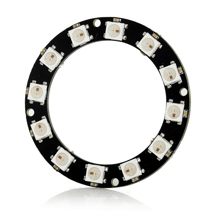 Duinopeak 50mm 12 bits WS2812 5050 LED anillo RGB inteligente