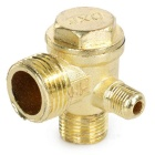 Non-Return One-Way Relief Check Valve for Small-Sized Air Compressor - Brass