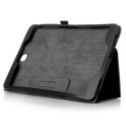 Protective Flip Open PU Case w/ Stand for Samsung T550 - Black
