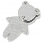 Bear Stainless Steel Pendant (Silver)