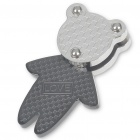 Cute Bear Shaped Stainless Steel Pendant (Titanium)