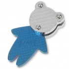 Bear Stainless Steel Pendant (Blue)