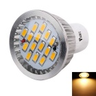 WaLangTing GU10 5W LED Spotlight Warm White 3200K 350lm SMD 5730 - Silver (110~240V)