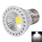 WaLangTing E27 4W COB LED Spotlight White Light 6500K 250lm - White + Silver (AC 110~240V)