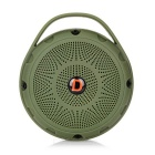 Outdoor Sports Bluetooth V2.1 Speaker w/ TF / FM / Micro USB / Self-timer - Army Green + Black