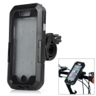 Waterproof Anti-Shock Protective Full Body Touch Case w/ Bike Clamp Mount for IPHONE 6 - Black
