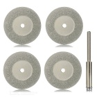 5-in-1 30mm Diamond Grinding Cutting Discs Blades Set - Golden + Silver