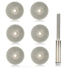 7-in-1 25mm Diamond Grinding Cutting Discs Blades Set - Golden + Silver